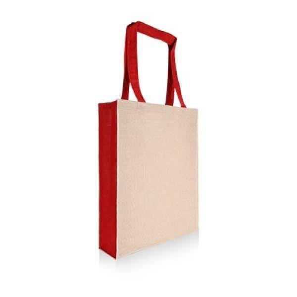 Two Tone Juco Tote Bag Tote Bag / Non-Woven Bag Bags Best Deals Eco Friendly TNW1027_RedThumb2[1]